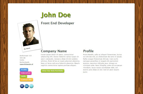 Free Resume Template For An Online Cv – Ontwerps