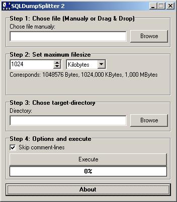 sqldumpsplitter2 Here are three methods for importing large SQL files