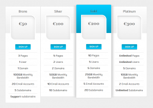 css3 price table